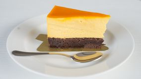 Cheese cake is delicious. Sweet, soft palate, you will love the taste stock images