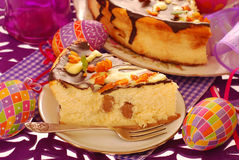 Cheese cake for easter Royalty Free Stock Photos