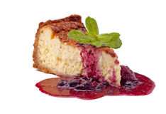 Cheese cake with jam Stock Photo