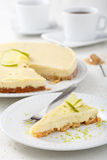 Cheese cake with lime Royalty Free Stock Photography