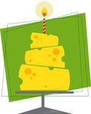Cheese Cake. Cake made out of cheese blocks. Eps10 vector illustration