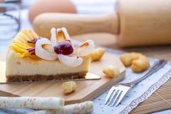 Cheese cake mix fruit Royalty Free Stock Photo