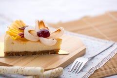 Cheese cake mix fruit Royalty Free Stock Image