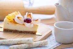 Cheese cake mix fruit Stock Photo
