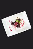 Cheese Cake plate Stock Photo