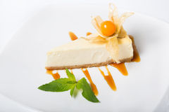 Cheese cake on a plate Stock Image