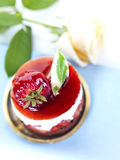 Cheese cake with a rose Stock Photography