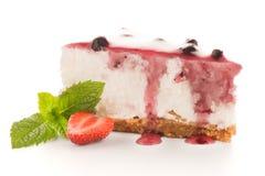 Cheese Cake slice. On white background Stock Photo