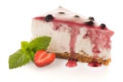 Cheese Cake slice. On white background Stock Images