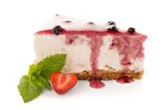 Cheese Cake slice. On white background Stock Photography