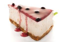 Cheese Cake slice. On white background Stock Image