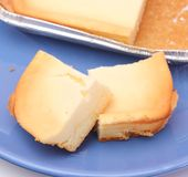 Cheese cake. Some fresh slices of cheese cake Stock Image