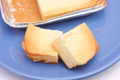 Cheese cake. Some fresh slices of cheese cake royalty free stock photography