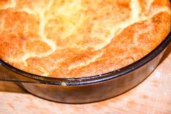 Cheese cake souffle stock photo