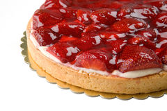Cheese cake with strawberries Stock Photography