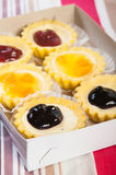 Cheese cake tarts Stock Image