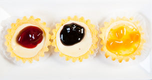 Cheese cake tarts Royalty Free Stock Images