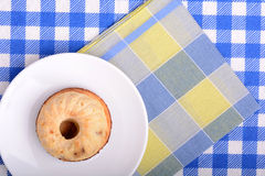 Cheese cake on white plate Royalty Free Stock Photography