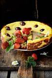 Cheese cake  on wooden table. Selective focus Stock Photo