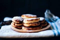 Cheese cakes with banana Stock Photo