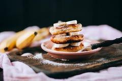 Cheese cakes with banana Royalty Free Stock Photos