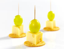 Cheese canape Royalty Free Stock Images