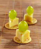 Cheese canape Stock Photography