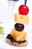 Cheese canape Stock Photo