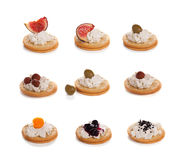 Cheese canapes Stock Image
