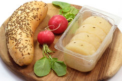 Cheese with Caraway Stock Photo