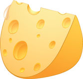 Cheese. Cartoon Stock Image