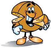 Cheese cartoon character Royalty Free Stock Photography
