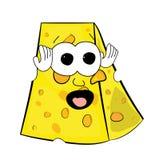 Cheese cartoon character Stock Photo