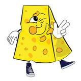 Cheese cartoon character Royalty Free Stock Photo