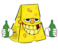Cheese cartoon character Stock Photography
