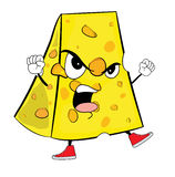 Cheese cartoon character Stock Images