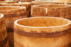 Cheese casks Royalty Free Stock Images