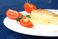 Cheese casserole piece Stock Photography