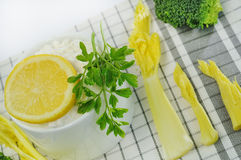 Cheese and celery Stock Image