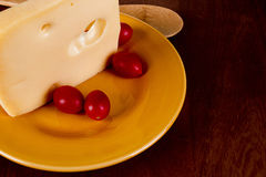 Cheese ceramic plate Royalty Free Stock Photos