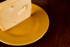 Cheese ceramic plate Royalty Free Stock Images