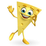 Cheese Character with best sign Stock Photo