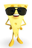 Cheese Character with goggle Royalty Free Stock Photography