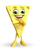 Cheese Character is happy Royalty Free Stock Photo