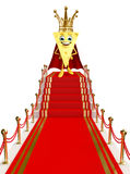 Cheese Character on the red carpet Royalty Free Stock Photography