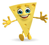 Cheese Character is running Royalty Free Stock Photography