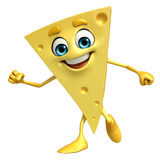 Cheese Character with is running Stock Images