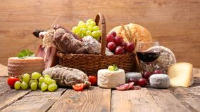 Cheese and charcuterie Stock Photography