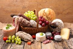 Cheese and charcuterie Stock Image