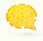 Cheese chat bubble Royalty Free Stock Photography